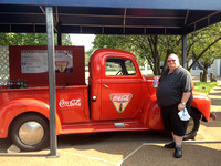 Enjoying a Coke Icee at Graceland. Some of you might remember that this truck used to be Pepsi.