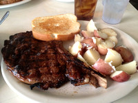 24 oz. Ribeye Cowboy Cut at Blues City Cafe on Beale Street in Memphis.